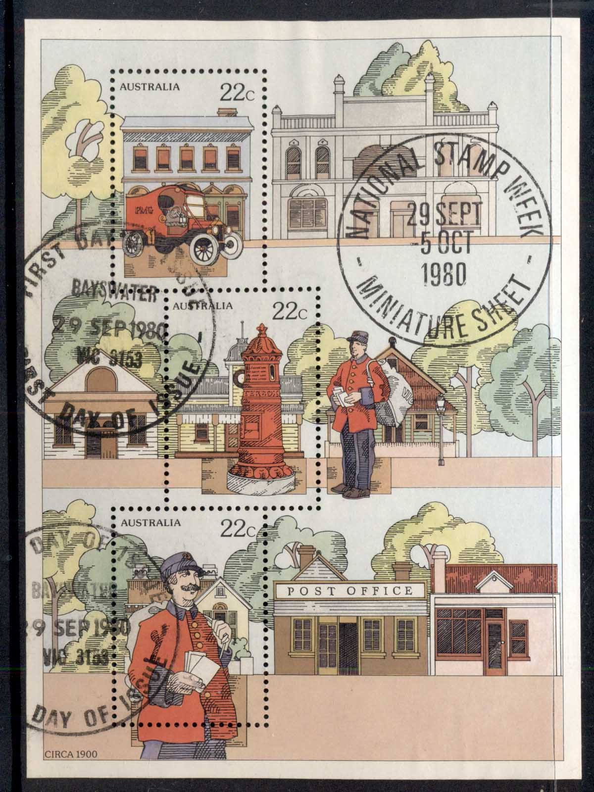 Australia 1980 Stamp Week MS Bayswater FDI