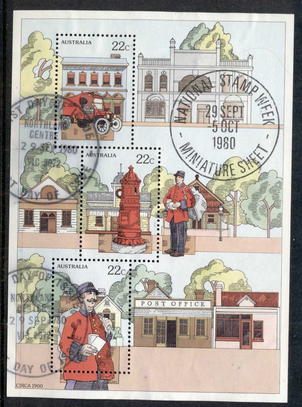 Australia 1980 Stamp Week MS Northland FDI
