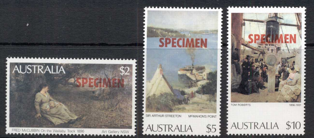 Australia 1977-84 Paintings SPECIMEN MUH