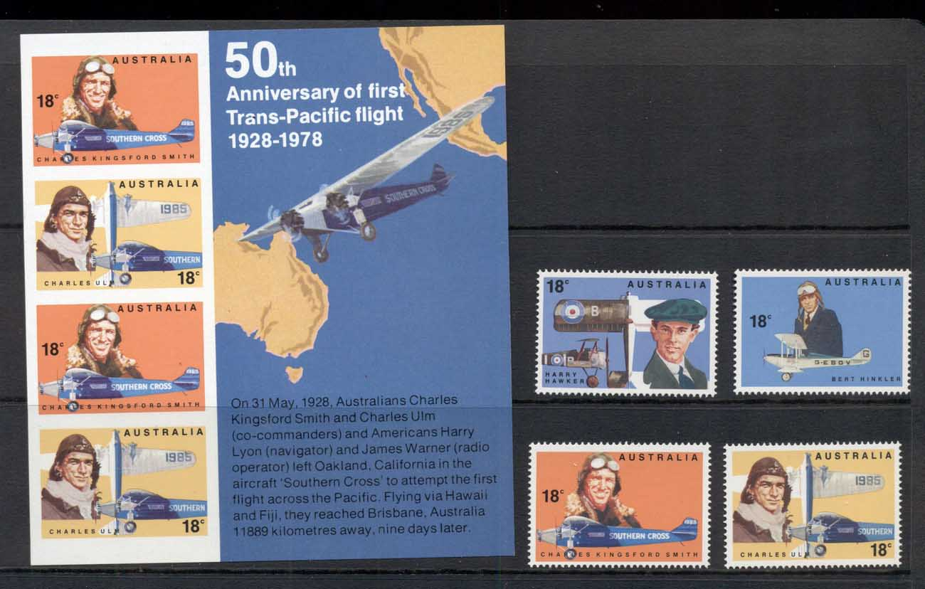 Australia 1978 Trans Pacific Flight + MS MUH