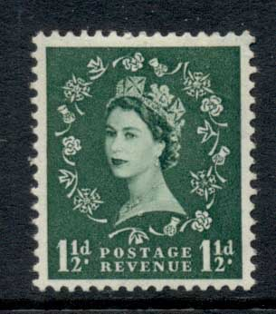 GB 1952-54 QEII 1.5d Wilding, Wmk Tudor crown MLH