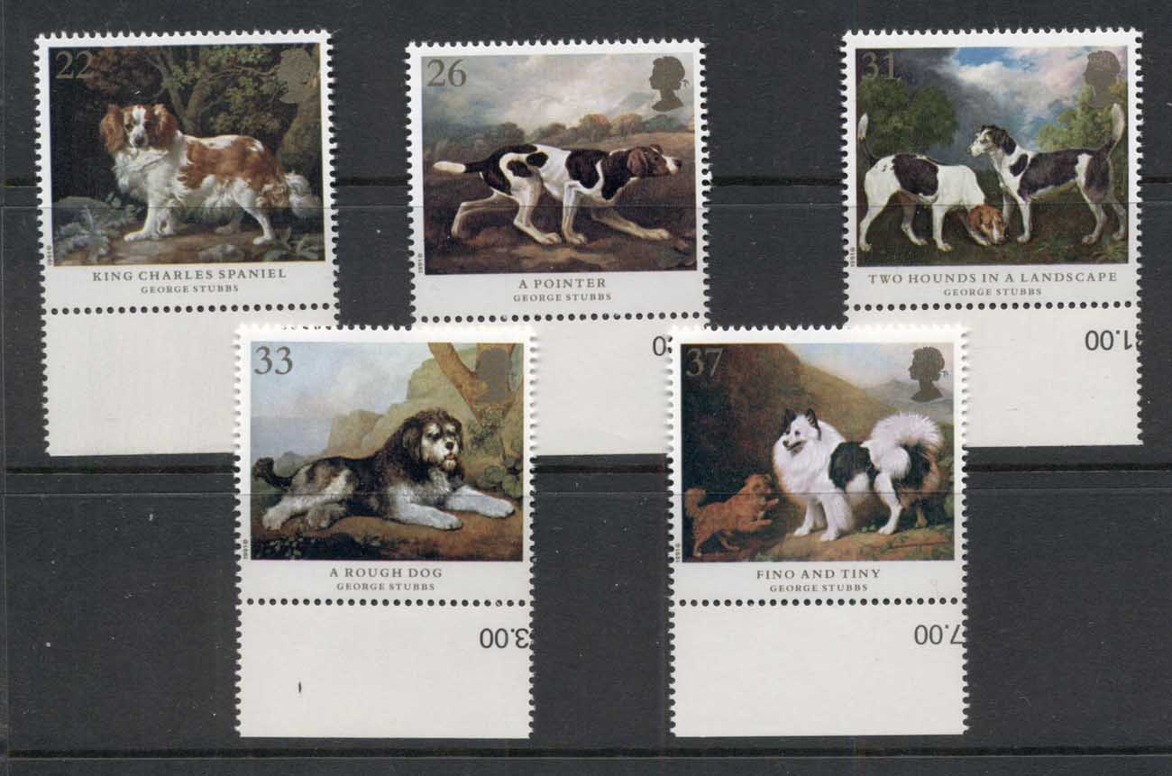 GB 1991 Dog Paintings by George Stubbs MUH