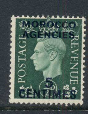 Morocco Agencies 1937 KEVI 5c Opt MLH