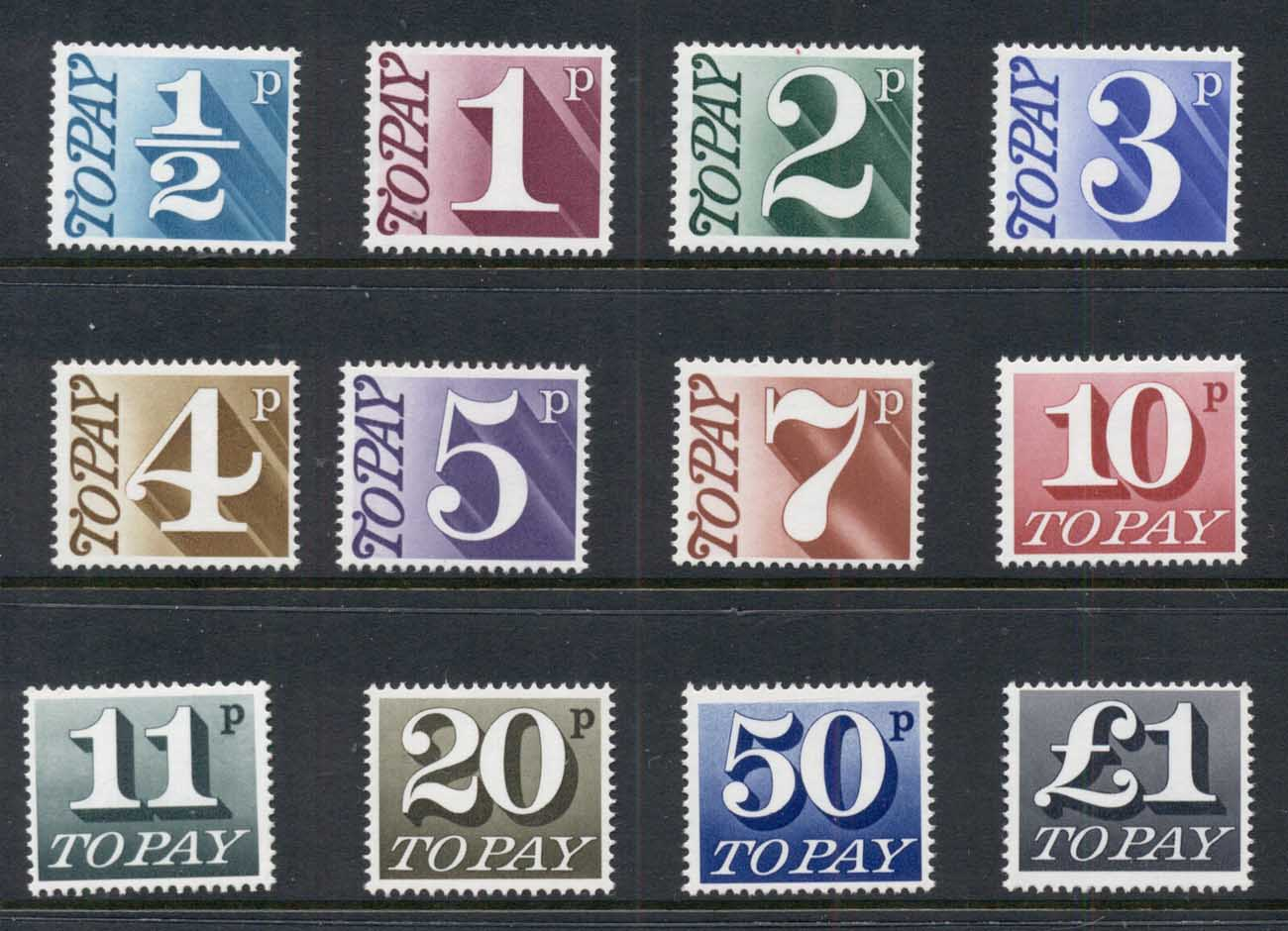 GB 1970-75 Postage Dues to ?1 MUH