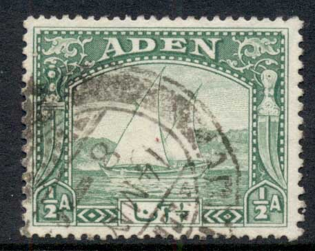 Aden 1937 Pictorial Dhow 1/2a FU