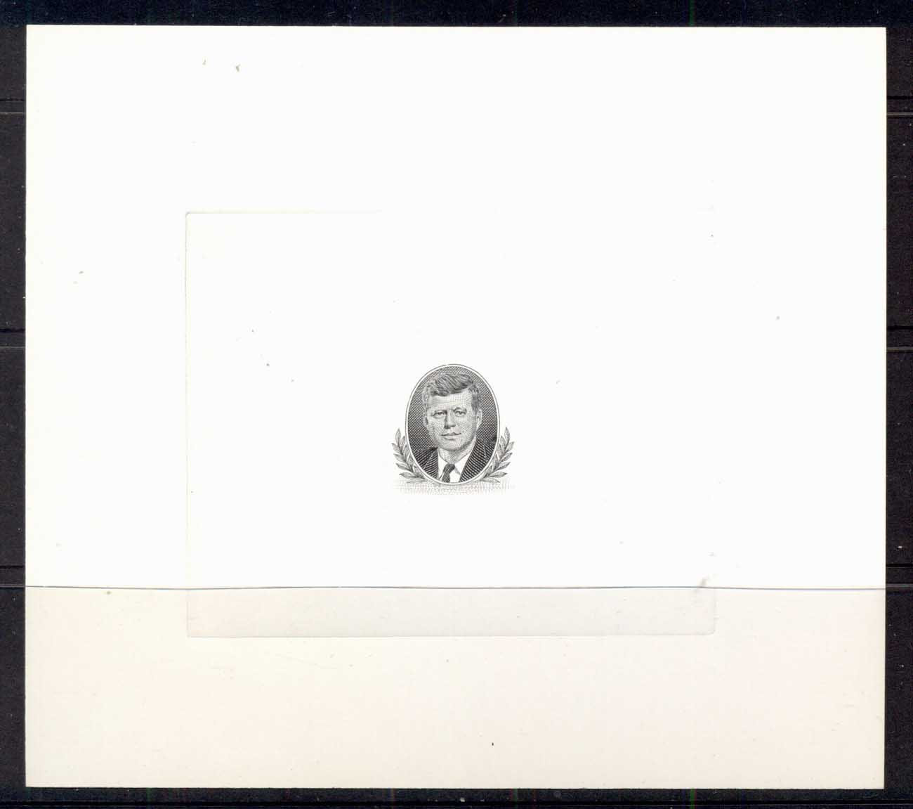Country unknown 1967 c. JFK Kennedy vignette proof on glazed card MUH