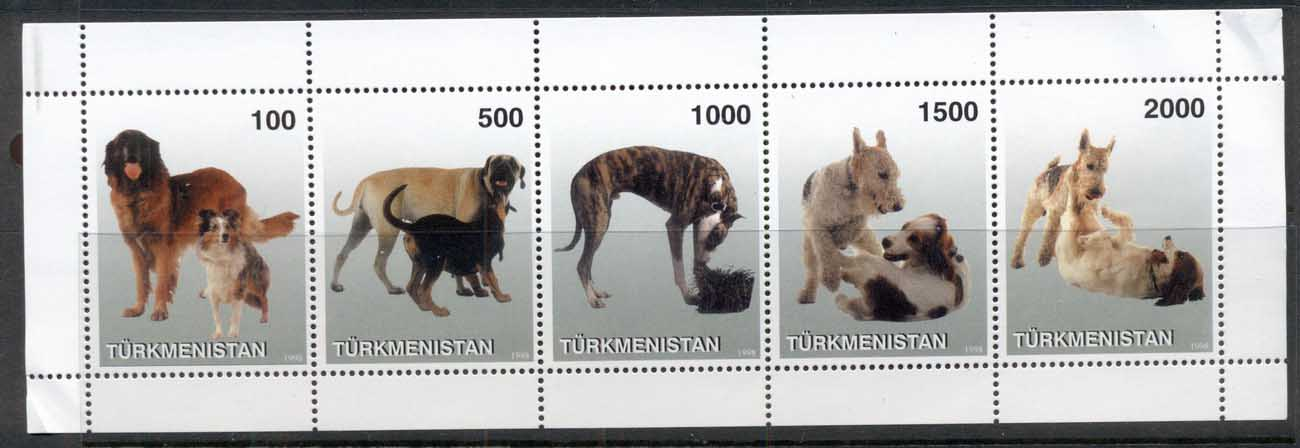 Turkmenistan 1998 Dogs (crease BLC0 MS MUH