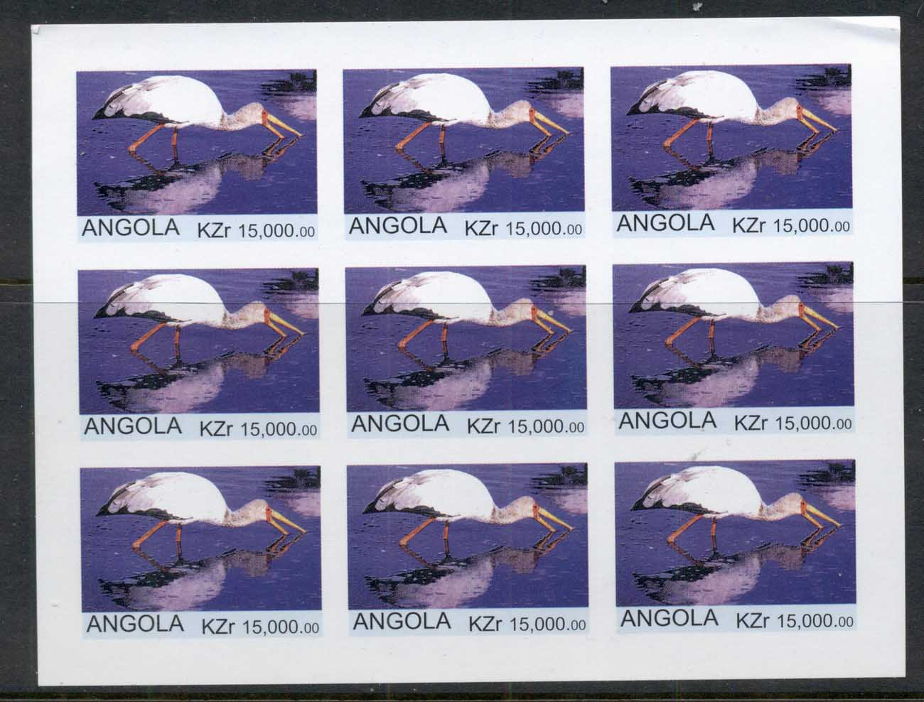 Angola 2000 Birds (Rebel issue) IMPERF MS MUH