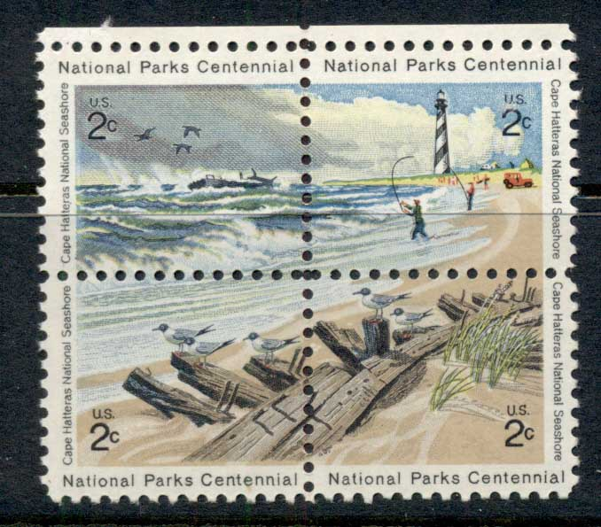 USA 1972 Sc#1448-51 National Park centenary blk4 MUH