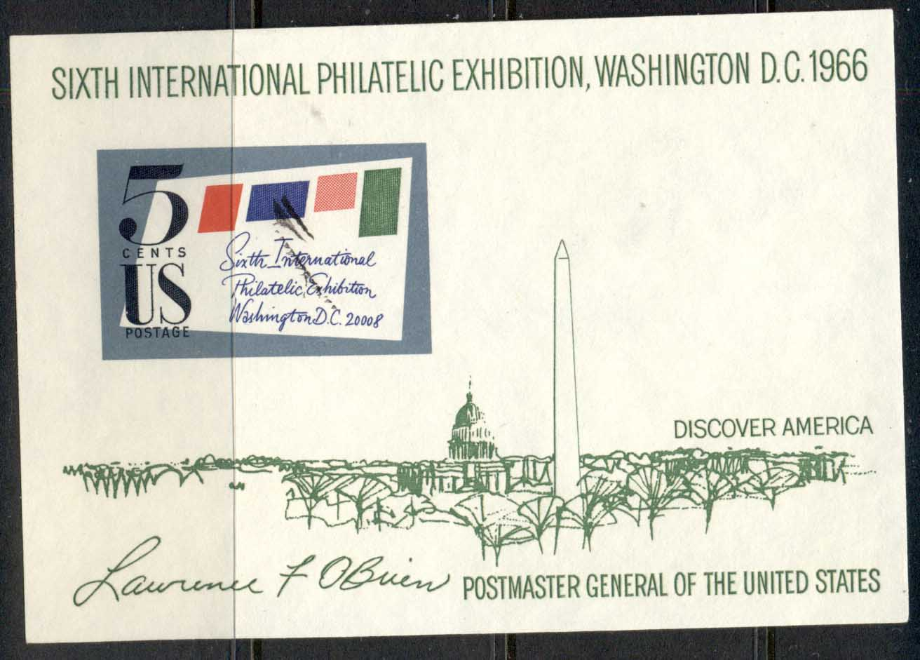 USA 1966 Philatelic Exhibition MS FU