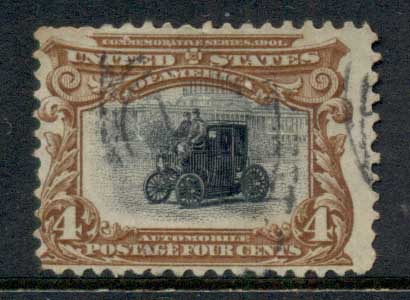 USA 1901 Sc#296 Pan-American Exposition 4c Electric Automotive Industry FU