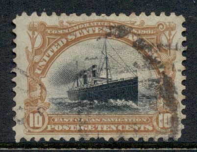 USA 1901 Sc#299 Pan-American Exposition 10c Fast Ocean Navigation FU