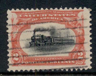 USA 1901 Sc#295 Pan-American Exposition 2c Empire State Express Train FU