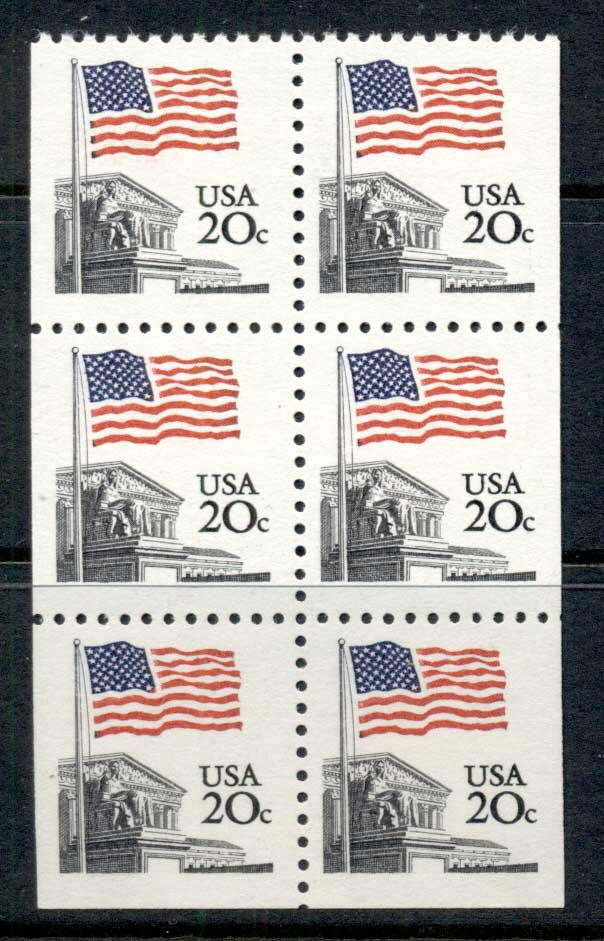 USA 1981 Sc#1896 Flag over Supreme Court booklet pane MUH