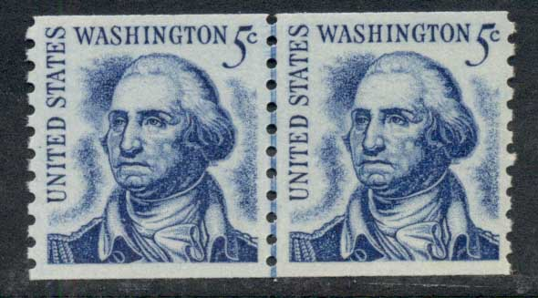 USA 1965-78 Sc#1304c Washington Coil line pr MUH