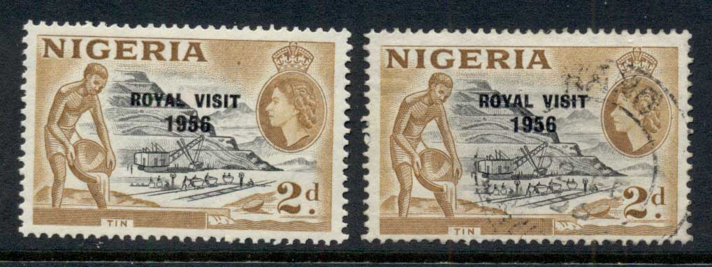 Nigeria 1956 Royal Visit Opt MLH/FU