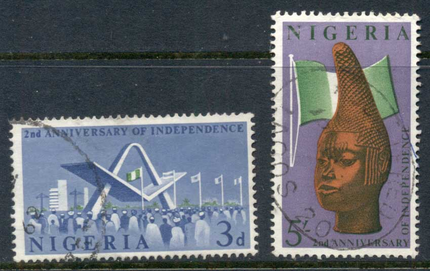 Nigeria 1962 Independence 2nd Anniv. FU