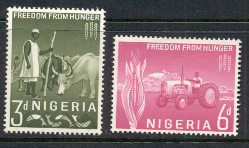Nigeria 1963 FFH Freedom From Hunger MLH
