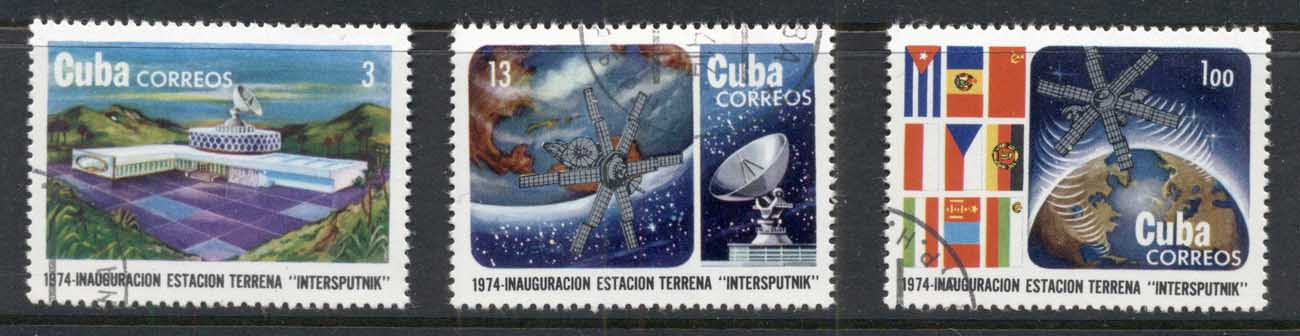 Caribbean Is 1974 Intersputnik Earth satellite Space Station CTO