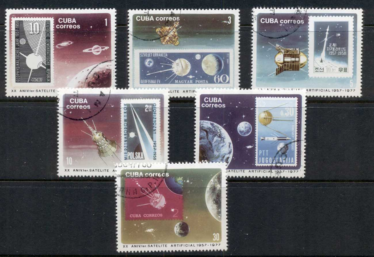 Caribbean Is 1977 Space, Sputnik, Stamps on Stamps CTO