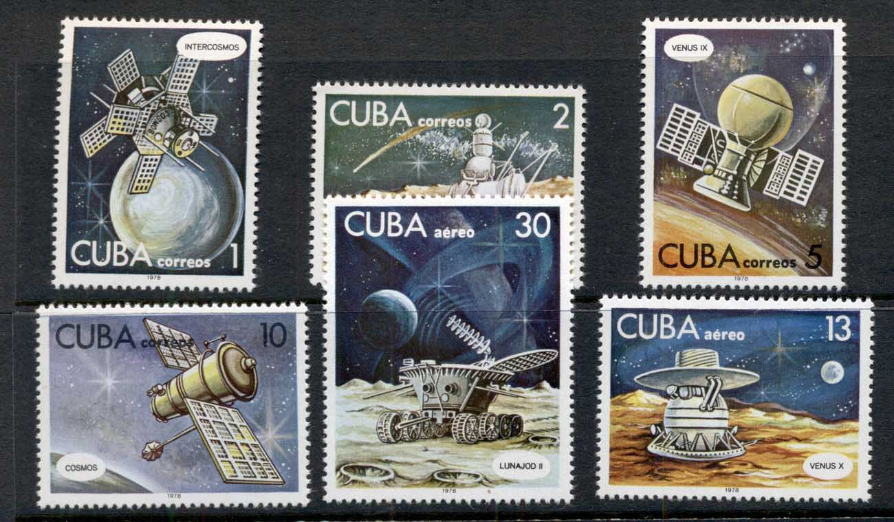 Caribbean Is 1978 Cosmonauts Day, Space Satellites MUH