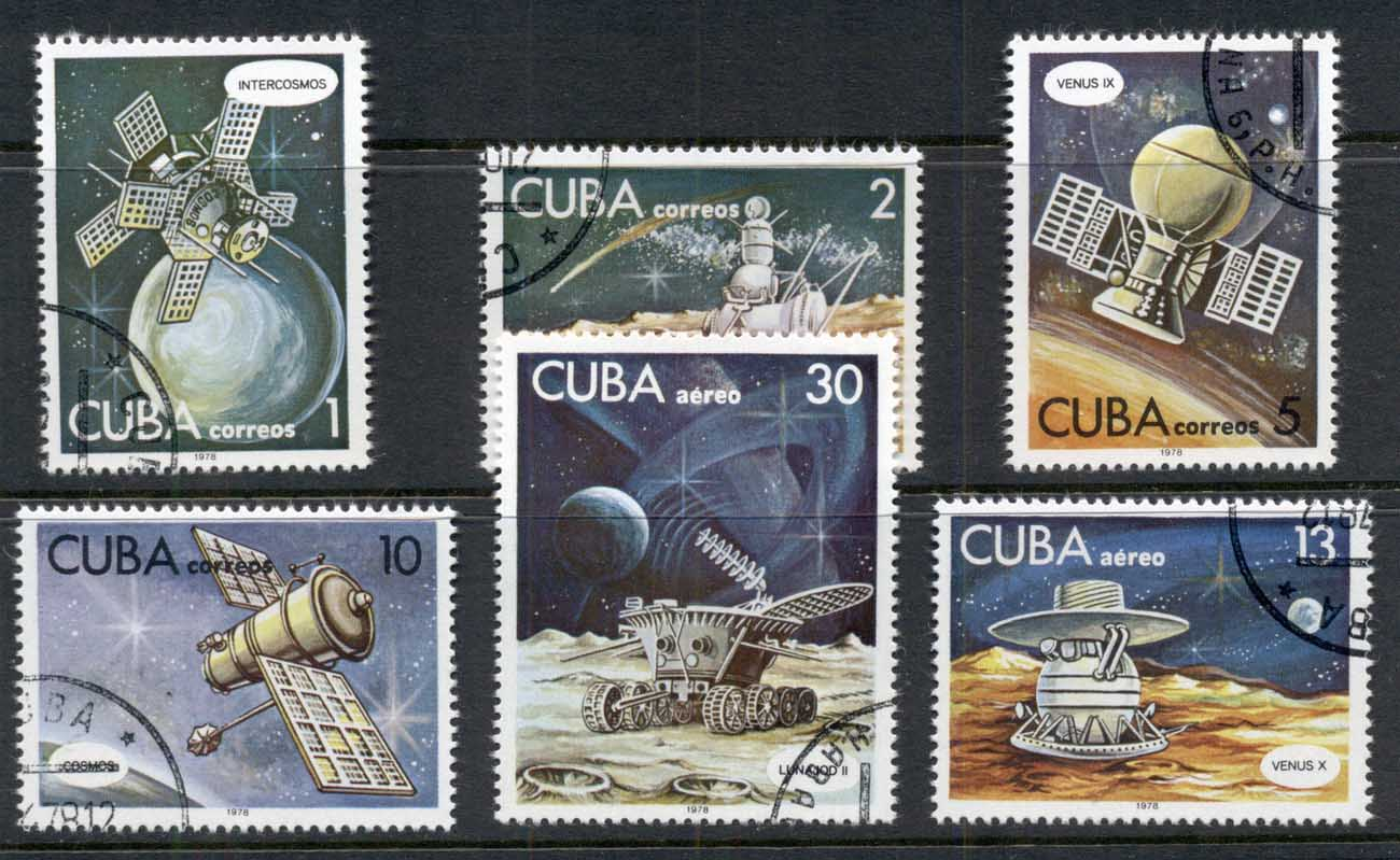 Caribbean Is 1978 Cosmonauts Day, Space Satellites CTO