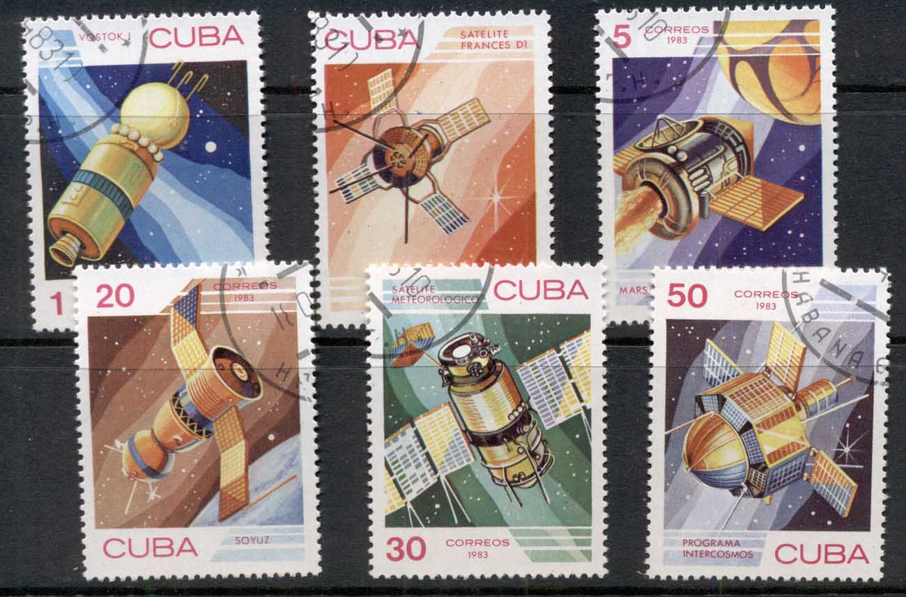 Caribbean Is 1983 Cosmonauts Day, Space Satellites CTO