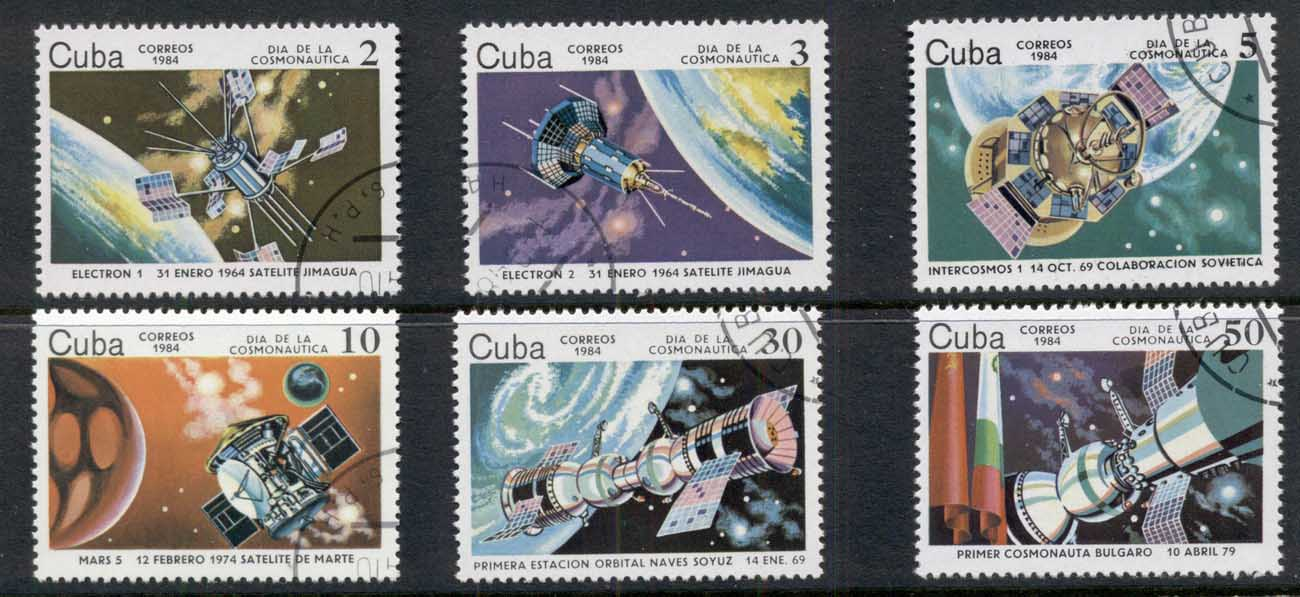 Caribbean Is 1984 Cosmonauts Day, Space Satellites CTO