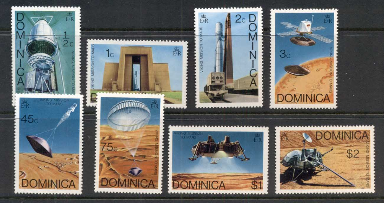 Dominica 1976 Viking Mission to Mars MUH