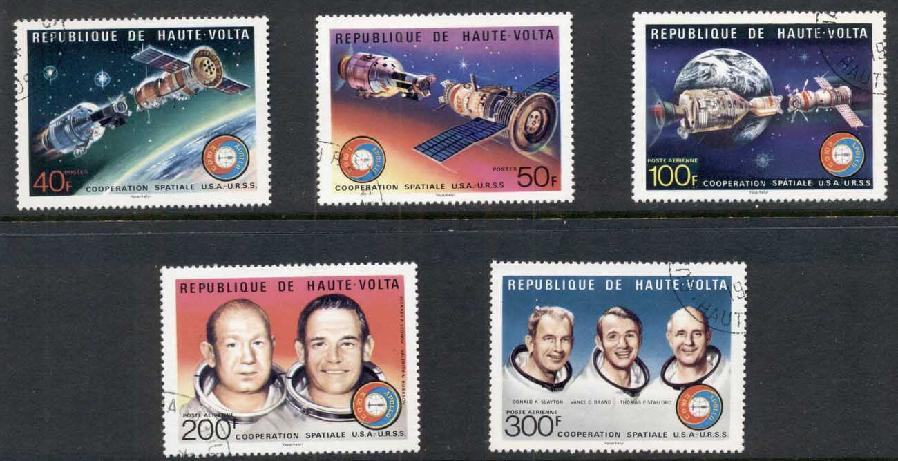Upper Volta 1975 Apollo Soyuz Space Flight CTO