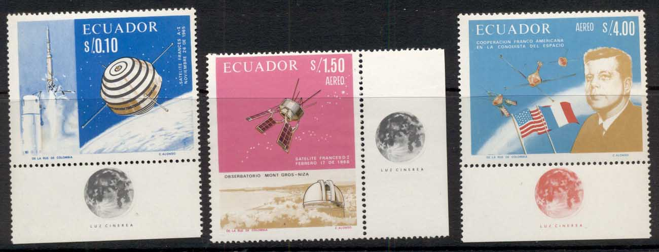 Ecuador 1966 French-American Space Cooperation MUH