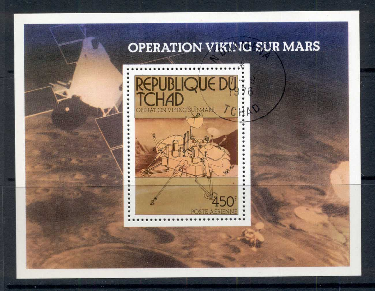 Chad 1976 Viking Mars Space Project MS CTO