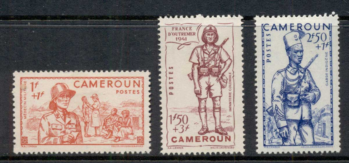 Cameroun 1941 Vichy Issue, Soldiers MLH