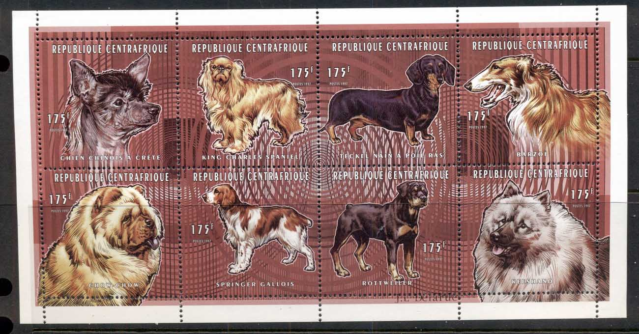 Central African Republic 1997 Domestic Dogs MS MUH