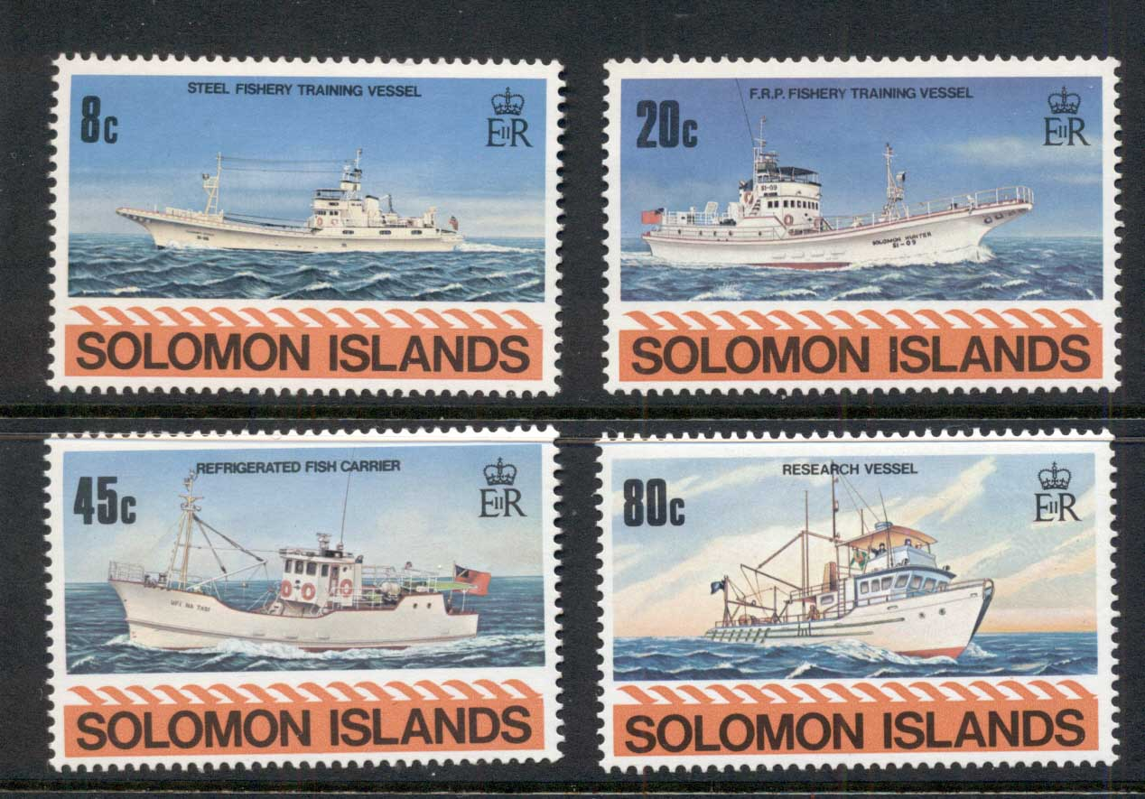 Solomon Is 1980 Fishing Vessels MUH