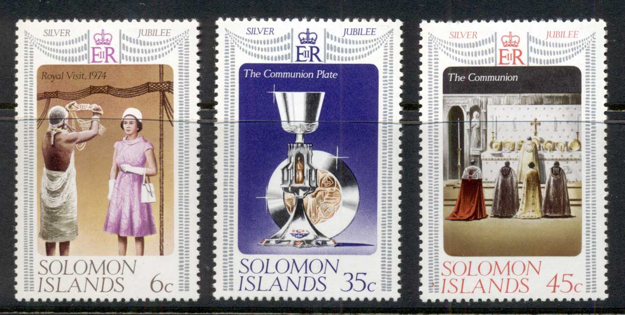 Solomon Is 1977 QEII Silver Jubilee MUH