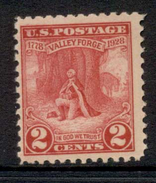 USA 1928 Sc#645 Valley Forge MLH