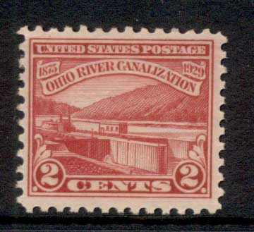 USA 1929 Sc#681 Ohio River Canalization MLH