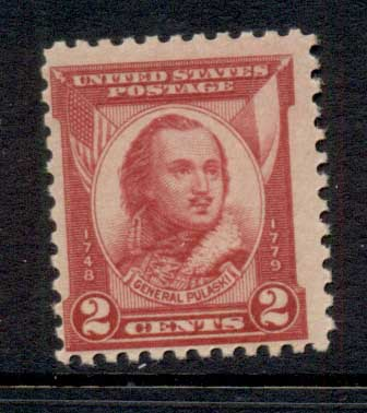 USA 1931 Sc#690 General Pulaski MLH