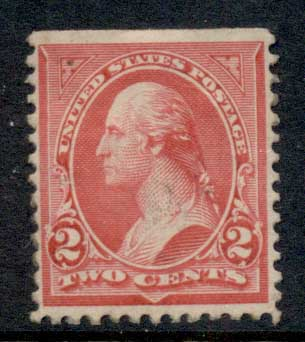 USA 1895 Sc#267 Washington 3c carmine TyIII MLH