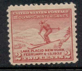 USA 1932 Sc#716 Winter Olympics, Lake Placid MUH