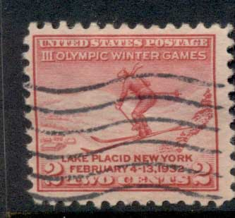 USA 1932 Sc#716 Winter Olympics, Lake Placid FU