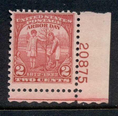 USA 1932 Sc#717 Arbour Day PNS#20875MUH