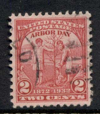USA 1932 Sc#717 Arbour Day FU