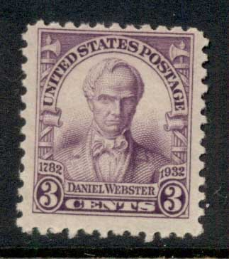 USA 1932 Sc#725 Daniel Webster MLH