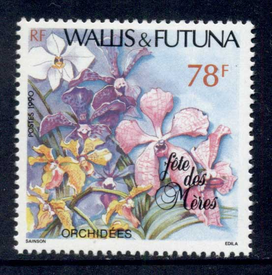 Wallis & Futuna 1990 Mother's day, Flowers MLH