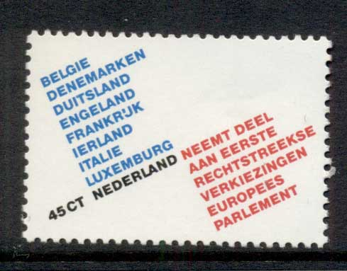 Netherlands 1979 European Parliament MUH
