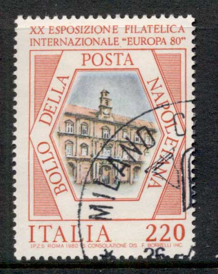 Italy 1980 Royal Palace Naples, Stamp Show CTO