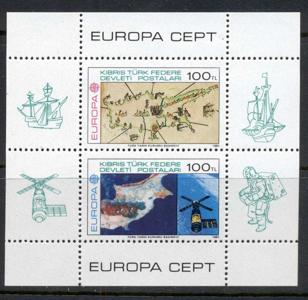 Cyprus Turkish 1983 Europa MS MUH