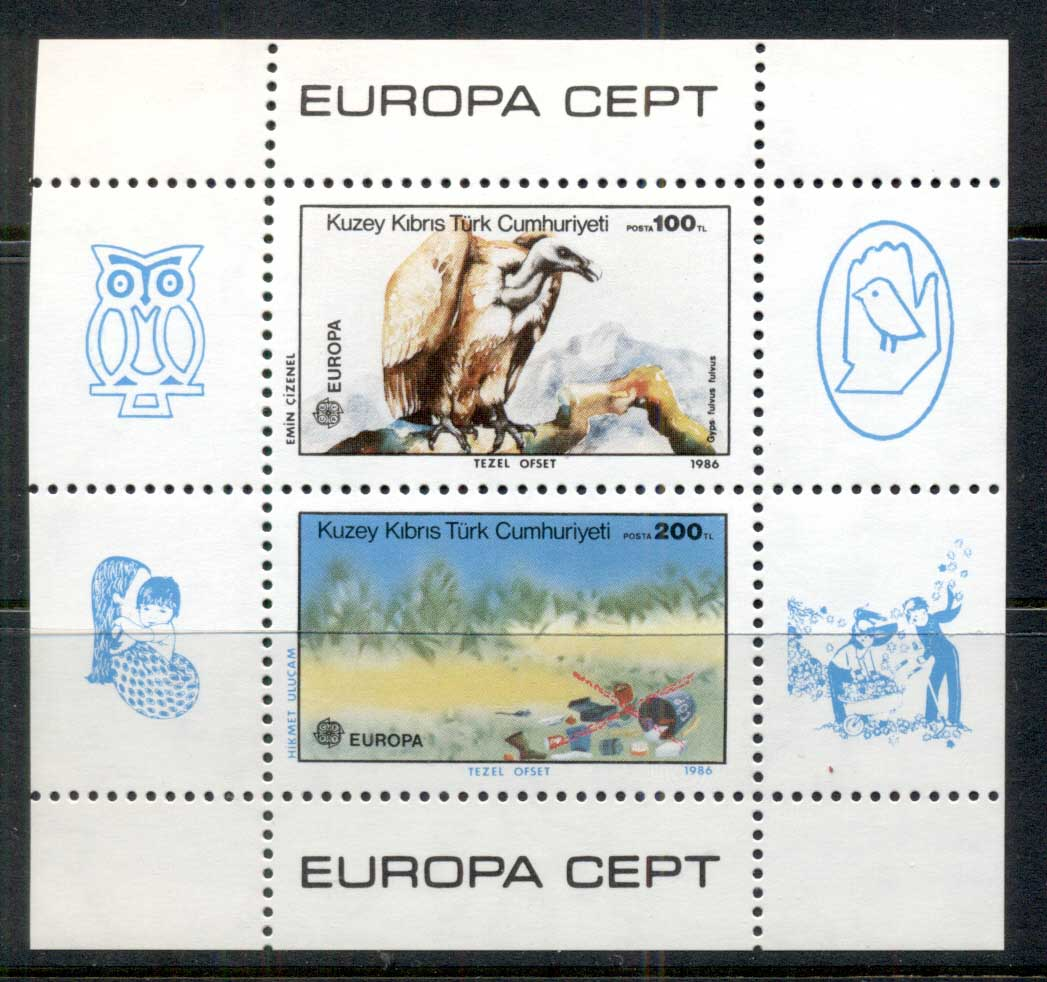 Cyprus Turkish 1986 Europa MS MUH